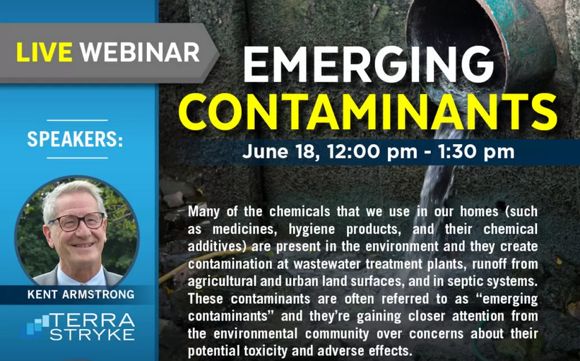 Emerging contaminants focus of webinar