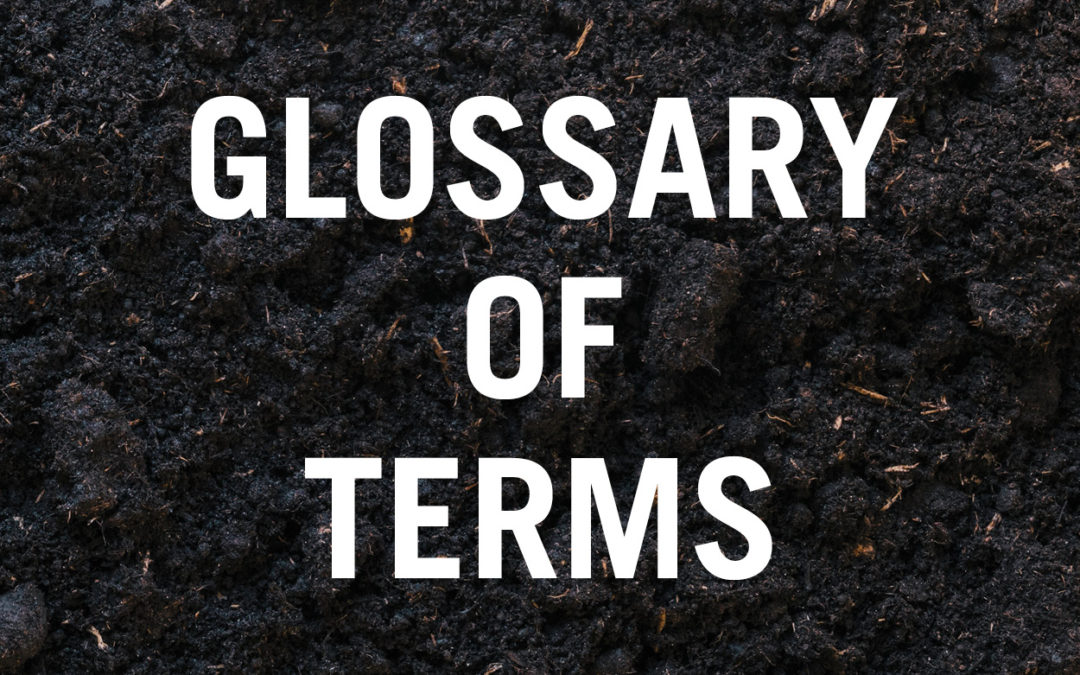 Bioremediation: a glossary of commonly used terms